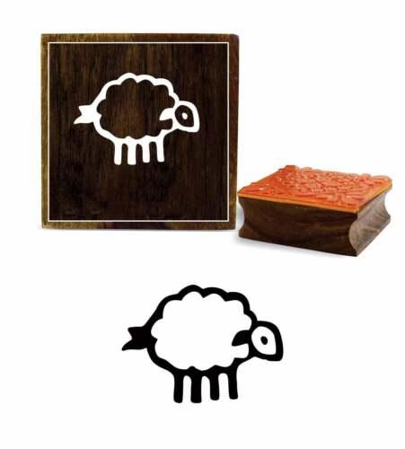 Printtoo Schaf Design Schrott-Buchung aus Holz Stempel Handwerk-Pxm