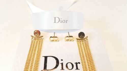 DIOR CHAIN LINK EARRINGS Box & Pouch Included
