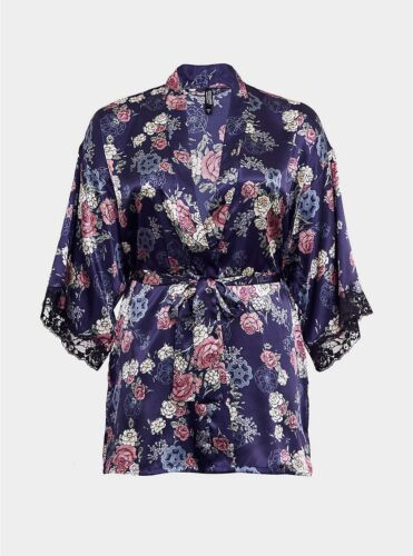 Womens Torrid Outlander Satin /& Lace Robe Size 0 large 12 NWT