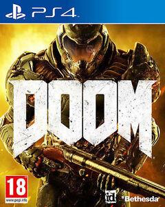 BRAND NEW COMPANY SEALED DOOM PS4 GAME + BONUS MONSTER MULTIPLAYER PACK