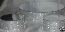 """14"""" x 4"""" Round Bling Mirror Top Cake Riser Stand Wedding BDay Party Table Decor"""