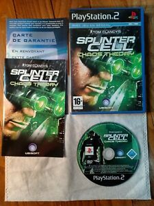 ???? Jeu Tom Clancy's Splinter Cell Chaos Theory Sony PS2 Playstation 2