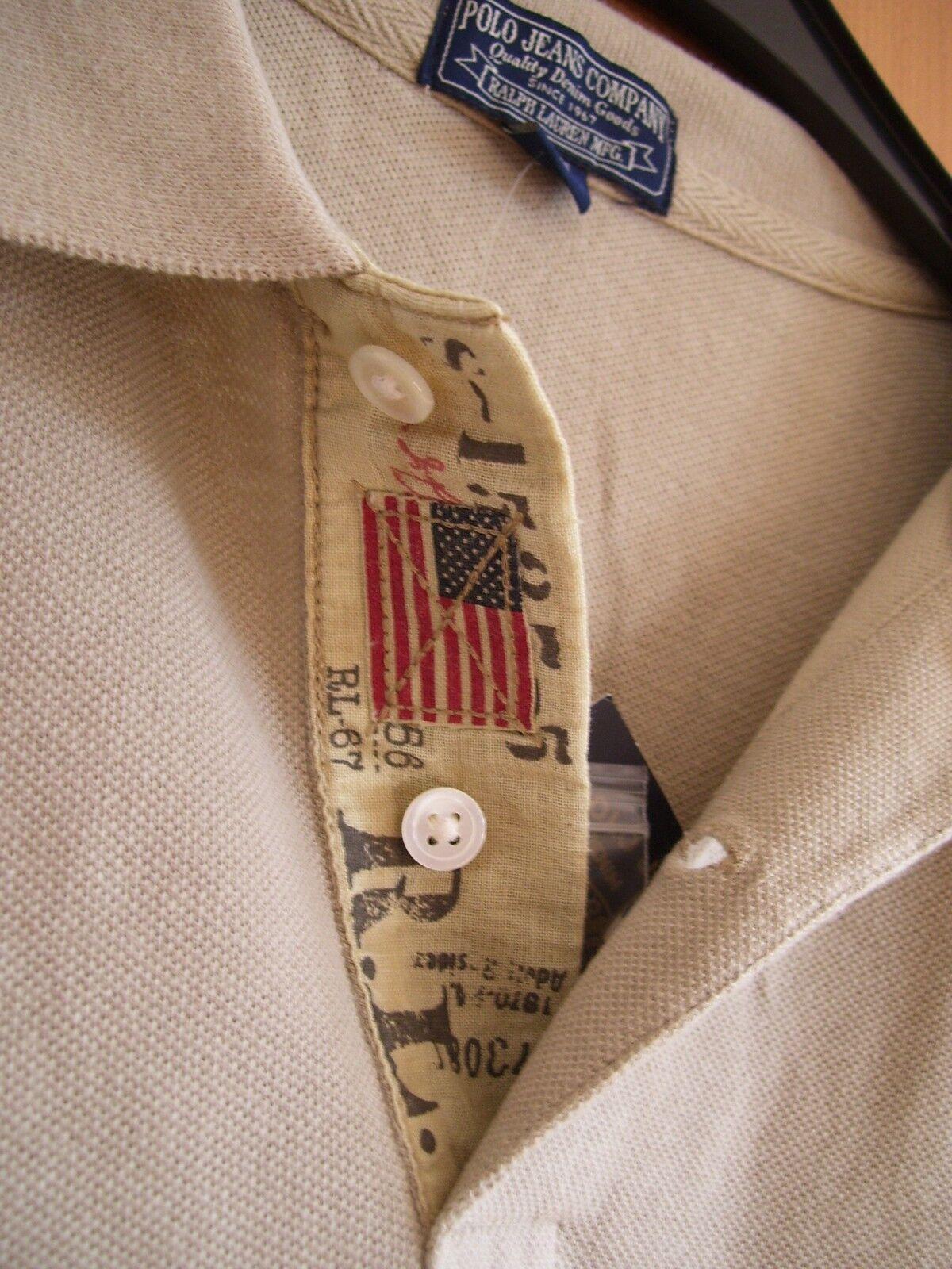 Ralph Lauren Polo Jeans Co Pique Dean Poloshirt Poloshirt Poloshirt Kurzarm khaki Grösse L neu   Verpackungsvielfalt  ffb8d3