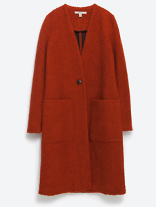 ZARA Women's Wool Coat(Dark orange, US M   M)
