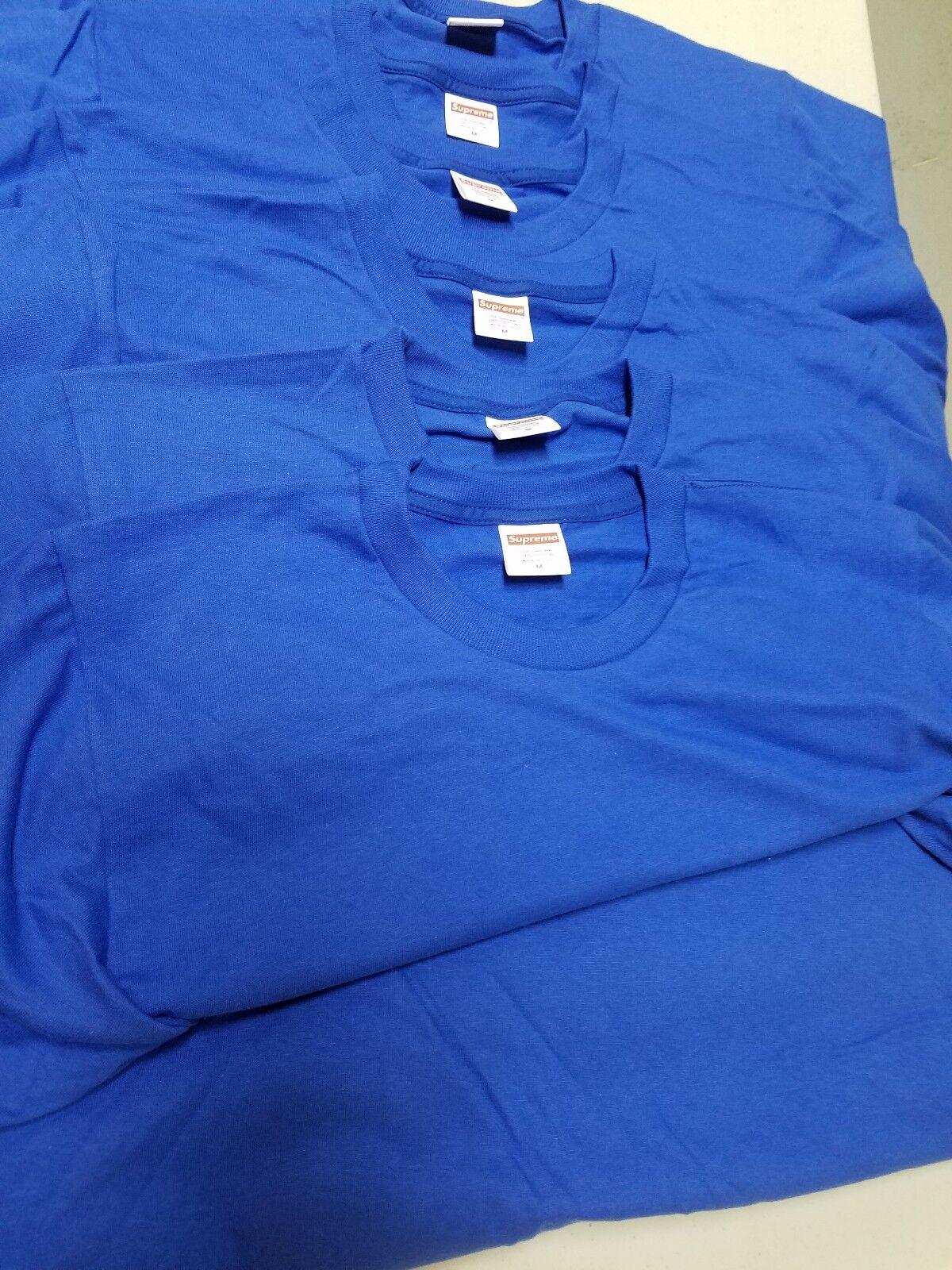 Lots of 6 Supreme Blank Royal blueeT-shirts Medium