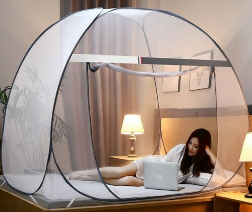 Folding Mosquito Net Tent Netting Tent Screen Free Standing Tent with Zippers
