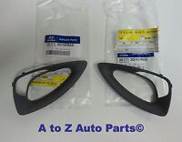 2011-2014 Hyundai Sonata Lh & Rh Grey Steering Wheel Bezels Or Inserts,