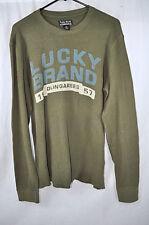 LUCKY BRAND men's LARGE thermal under shirt LONG SLEEVE green DUNGARESS 1957