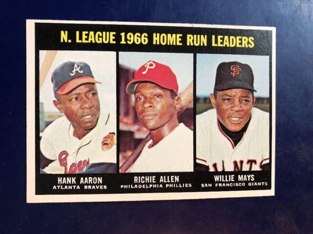 1967 Topps Hank Aaron Dick Allen Willie Mays 244 Baseball Card
