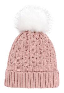 7f127b1d6 Details about New Fashion Women Winter Fur Pom Pom Knit Beanie Warm Crochet  Ski Hat Cap