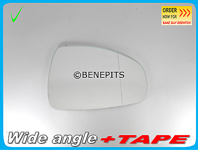 AUDI A4 ESTATE 2008-2010  WING MIRROR GLASS  HEATED WIDE ANGLE RIGHT