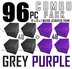 Acoustic-Foam-Combo-96-pack-Purple-Gray-Wedge-Soundproof-Studio-tiles-12x12x1-034