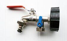 IBC TAPPO (s60x6) to Nickel galvanizzato OTTONE LEVA CON DOPPIO uscita. C/W on