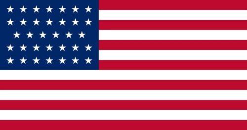 34 STAR United States UNION CIVIL WAR Flag 1861-1863 3x5 ft Print Polyester