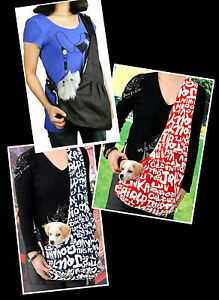 Dog-Puppy-Cat-Pet-Shoulder-Tote-Style-Sling-Bag-Carrier-Holder-S-M-L