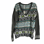 Aeropostale-Womens-Multicolor-Fair-Isle-Long-Sleeves-V-Neck-Sweater-Size-XL thumbnail 1
