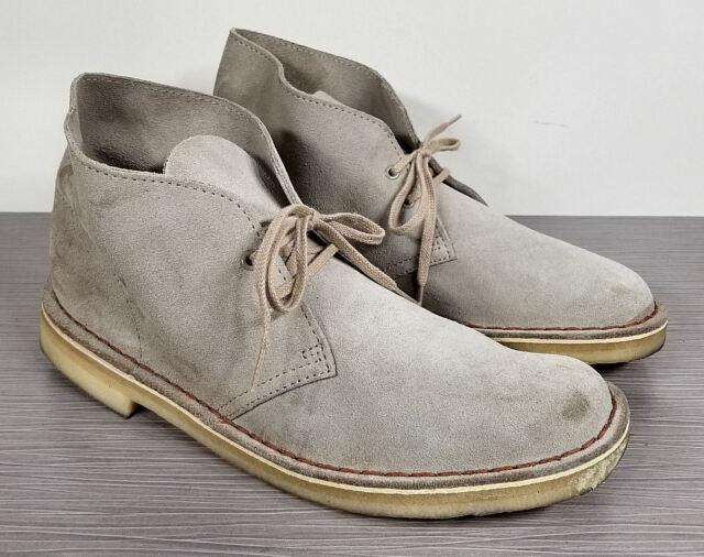 Clarks Originals Desert Boot, Light Grey Suede, Mens Size 7 M 39.5