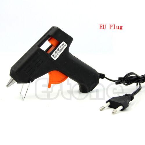 20W Electric Sticks Trigger Art Repair Tool Heating Hot Melt Glue Gun EU Plug