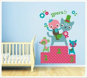 'hoera' Podium Competition Champions Sa-12-035 Famous For Selected Materials Delightful Colors And Exquisite Workmanship Novel Designs Diligent Kids Removable Wall Stickers
