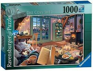 Ravensburger-Jigsaw-Puzzle-THE-COSY-SHED-1000-Piece-Collectible