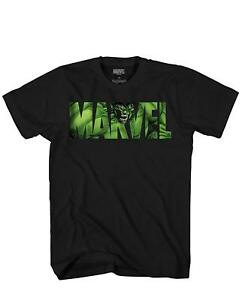 Marvel-Logo-Hulk-Avengers-Super-Hero-Angry-Green-Adult-Men-039-s-Graphic-T-Shirt-Tee