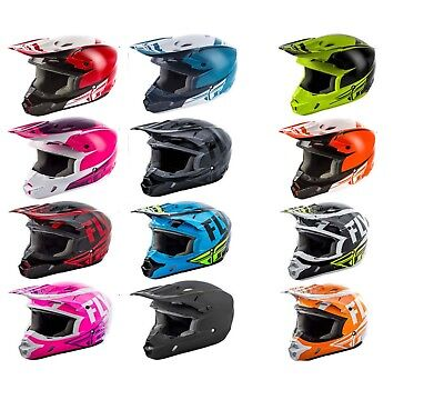 Fly Racing Kinetic Sharp Youth Helmet All Sizes Pink//Wht//Purple