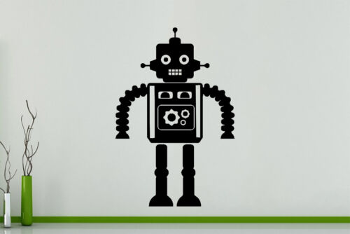 Robot Cartoon Machine Childens Bedroom Wall Art Decal Sticker Picture Poster