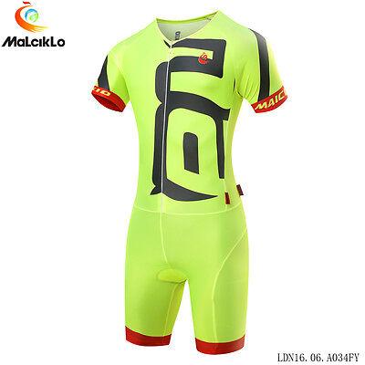 Men Body Suit Triathlon One Piece Suit Cycling Jumpsuit Riding Jersey Garment