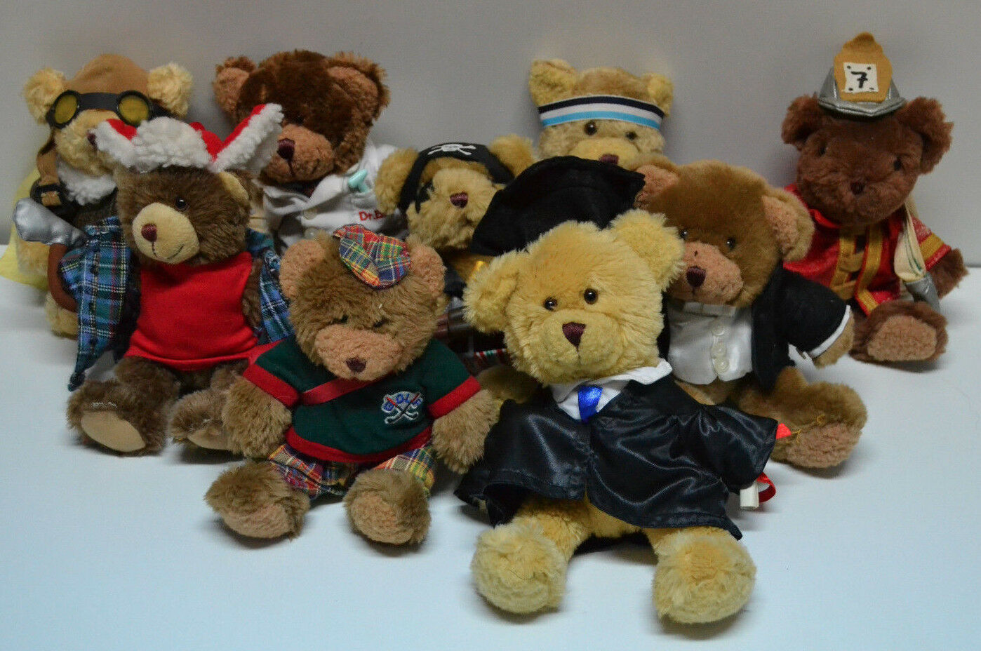 Lote de 9 muñecos de peluche THE THE THE TEDDY BEAR COLLECTION db1