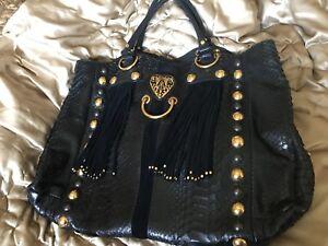 a93b22388f3e Image is loading Legendary-Authentic-Gucci-Python-Babouska-Tote-bag-black-