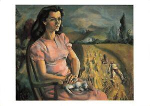 Art-Postcard-Joan-in-the-Field-1943-by-Michael-Ayrton-EX4