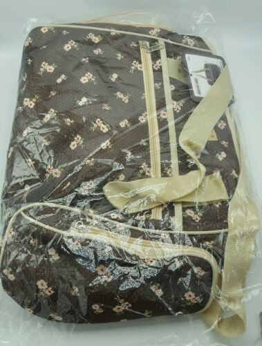 """Baby Diaper Changing Bag Brown//Pink  Flowers /""""Love is/"""" Model toddler wipes 69.99"""