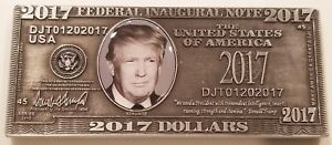 US-President-Donald-Trump-Federal-Inaugural-Bill-Money-Challenge-Coin-non-NYPD