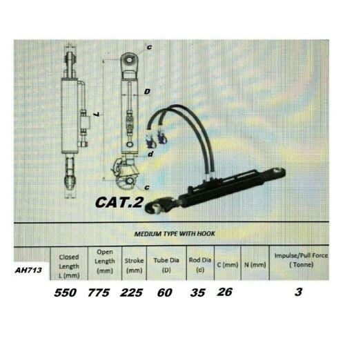 Hidráulico Ober manillar cat.2 550-775mm 2x hydraulikschlauch//sperrblock #