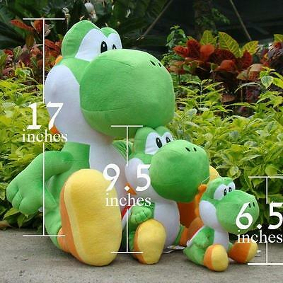 "Cute 17/"" Super Mario Bros Yoshi Big Soft Stuffed Plush Toy Doll Kids Xmas Gift A"