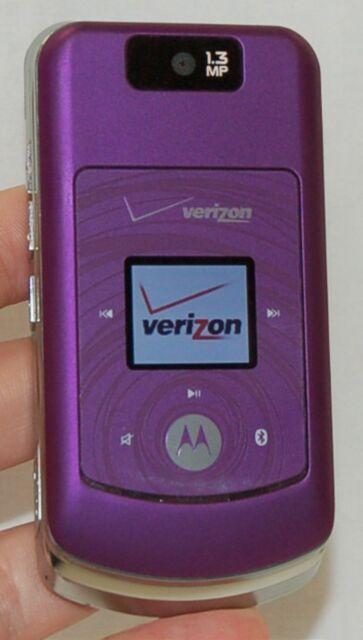 Motorola Verizon W755 Flip Cell Phone PURPLE vCast music 1