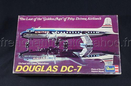 B008 RARE REVELL 1974 AVION DOUGLAS DC7 U AIR LINES 168