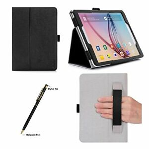 quality design 481e8 5fa30 Details about Samsung Galaxy Tab S2 9.7 Case Slim Flip Stand Folio Cover  with Hand Strap Black
