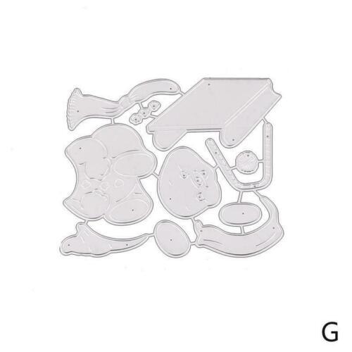 DIY Metal Cutting Dies Cut Mold MerryChristmas Scrapbook Stencil Album W2T6