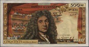 500 NOUVEAUX FRANCS MOLIERE - 2.1.1964 - Billet de banque français (TTB+)