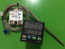 Digital Dual F/C PID Temperature Controller TA4-SNR + 2M PT100 Probe+ 25A DA SSR