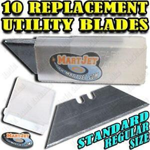 10 Regular Utility Blades Razor Sharp Box Opener Carton Cutter Knife Replacement