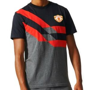 new arrival c4bf1 5943c Details about Adidas Manchester United Retro Tee (BQ3243) Casual T-Shirt Top