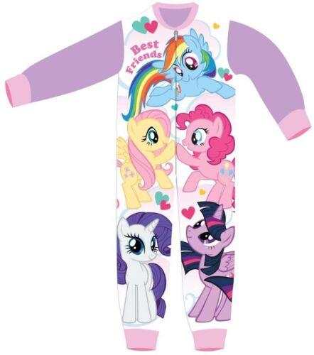 Character MLP Girls Fleece All In One Pyjamas Sleepsuit Nightwear My Little Pony