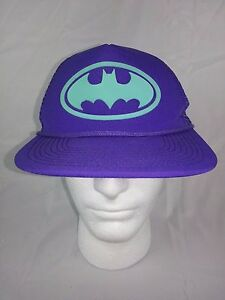 0fd224be23f DC Comics Batman Batgirl Purple   Aqua Snapback Cap Flat Bill Hat ...