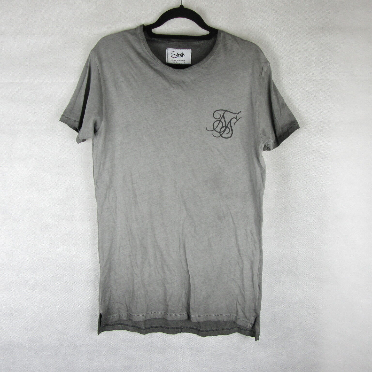 Sik Seta T Shirt Palestra Running Grigio Taglia S