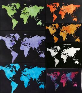 Ethnic-Small-Poster-Tapestry-Collage-World-Map-Design-Cotton-Handmade-Fabric-Rug