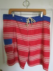 7530f9cc03 Sperry Top-Sider Men's 38 Swim Trunks Board Shorts Red White Blue ...
