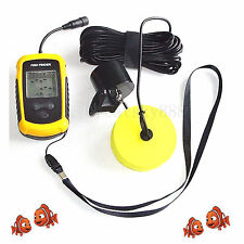 100M Depth Fishing Bait Tool Portable Sonar Sensor LCD Alarm Ideal Fish Finder