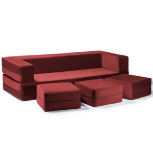 Tremendous Details About California King Sleeper Couch Sofa Ottomans Convertible Bed Bench Modern Red New Machost Co Dining Chair Design Ideas Machostcouk